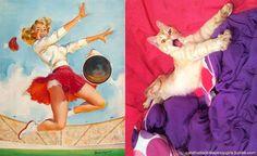Ano novo, vida nova. Momento para renovação e mudanças de hábitos. Mas há coisas que não mudam, e a paixão da internet pelos gatos com certeza é uma delas. Prova disso é uma página só sobre gatos que se parecem com Pin-Ups.  Criado pela australiana Rachael Aslett no início do ano passado, o projeto começou no Tumblre hoje conta tam...