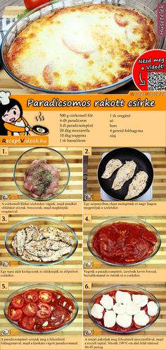 Tomaten-Hähnchen-Auflauf Rezept mit Video - Hähnchenrezepte Tomato and Chicken Bake Recipe with Video pour un dîner sain Chicken Recipes Video, Baked Chicken Recipes, Crockpot Recipes, Chicken Casserole, Casserole Recipes, Healthy Dinner Recipes, Food Videos, Baking Recipes, Italian Recipes