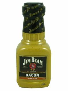 Jim Beam Bacon Flavored Mustard _  11 oz Plastic Bottle. Refrigerate After Opening For Best Quality _ THIS IS A NON-ALCOHOLIC PRODUCT (CONTAINS LESS THAN 0.04% ALCOHOL BY VOLUME) _ 12 new from $3.57
