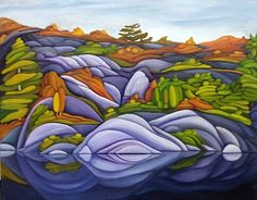 Gorgeous new paintings have just arrived from artist Deb Gibson . Her modern landscapes are an expression of the places she has encounte. Canadian Painters, Canadian Artists, Abstract Landscape, Landscape Paintings, Landscapes, Naive Art, Silk Painting, Beautiful Artwork, Art Tutorials