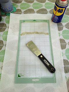 how to clean & restick cricut mat