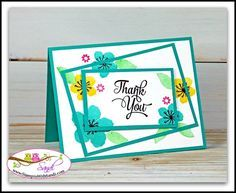 *no instructions :( *  Twisted Triple Time card with Botanical Blooms by Sandi @ www.stampinwithsandi.com