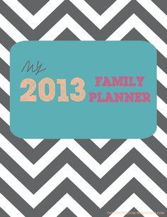 2013 Family Planner Printable Binder