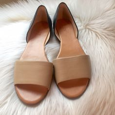 J. Crew Black and Tan slip on flats Brand new with box J. Crew Shoes