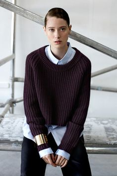 Cuffs on top of sweaters and 6 Other Style Tricks Winter- these are smart and simple