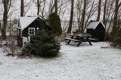 Fru Pedersens have: Årets første sne.