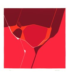 """Pablo Palazuelo - The Heart from the portfolio """"Le Couer"""" lithograph"""