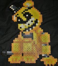 Golden Freddy by Pumpkin-King-Zak.deviantart.com on @DeviantArt  Fnaf golden freddy hama / perler bead