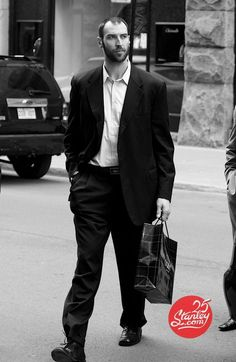 zdeno chara...captain of the boston bruins strutting his 6-foot 9-fine-self down the street :) j_ly_b
