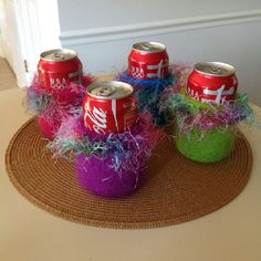Can Koozies  Custom made.  Contact Carol at ckenned2@me.com