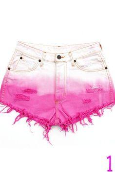 Dip-Dyed Shorts