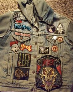 bloodlikerain  Recently released October Rust patch on @erikbird222 jacket.Thanks for tour support🤘🏻#battlejacket #metaljacket #kutte #bandpatch #bandpatches #battlevest #heavymetal #thrashmetal #denimjacket #patchedvest #metalpatches #metal #wovenpatch #metalmaniacs #metalmaniac #metalvest #metalkutte #metalhead #metalheads #patch #patches #battlejacket #bloodlikerain #bloodlikerainpatches #typeonegative #octoberrust #slayer Band Patches, Battle Jacket, Type O Negative, Head S, Thrash Metal, Youth Culture, My Youth, Metalhead, Punk Rock