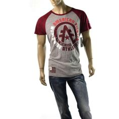 bcd7f690d64e97 American Fighter Mens T Shirt Davenport Gray Shirts Size XXL Slim Fit  Affliction