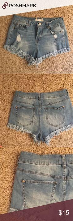 Denim cut-off shorts Barely worn Altar'd State Shorts Jean Shorts