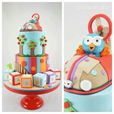 Giggle and Hoot cakes Cute Cakes, Pretty Cakes, Gorgeous Cakes, Amazing Cakes, Fondant Cakes, Cupcake Cakes, Owl Cakes, 1st Birthday Cakes, Birthday Ideas