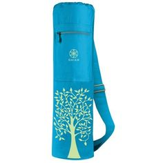 Gaiam Harmony Tree Mat Bag by Gaiam. $15.76. A chic, functional spin on a classic design, our mat bag is roomy enough for your yoga, Pilates or fitness mat. This 100% cotton mat bag also sports a zippered front pocket to hold essentials to tote back and forth from class or the studio.