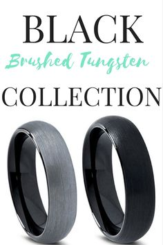 Brushed finished mens wedding bands bring out more definition in a mens ring. We have Brushed 18k Rose Gold rings,18k Yellow Gold brushed tungsten rings, and many more brushed tungsten wedding bands. These styles of rings give you a modern design and a classy look my combining brush look and a high polish inside to the tungsten rings.