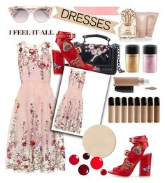 """""""25.04.17"""" by pretty0329 ❤ liked on Polyvore featuring Laurence Dacade, Vince Camuto, Jimmy Choo, WALL and MAC Cosmetics"""