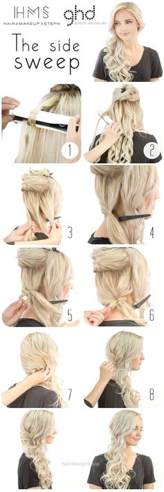 How To: Bridal Side Swept Hair (Hair and Make-up by Steph) http://www.hairdesigns.top/2017/07/24/how-to-bridal-side-swept-hair-hair-and-make-up-by-steph/