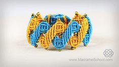 Stylized Helix Zig Zag Bracelet Tutorial in Vintage Style #macrame #vintage #helix #zigzag #bracelet #tutorial