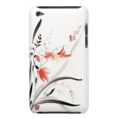 Classic oriental chinese sumi-e ink flowers paint iPod touch cases    ...BTW,Please Check this out:  http://artcaffeine.imobileappsys.com