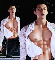 Shirtless sehun woo!!!! sexy ***
