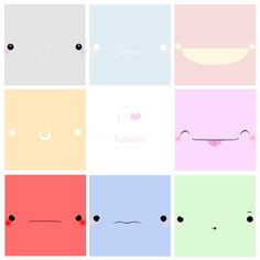 These are kawaii faces I did last night, well I did then I did the last face and the middle today. I Love Kawaii Faces Kawaii Faces, Kawaii Art, Kawaii Stuff, Cute Photos, Cute Pictures, Mononoke Forest, Chibi, World Crafts, Girly