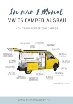 You also want to have a VW Camper expansion? - You also want to have a VW Camper expansion? Then you have to visit us. We& show you the mos - Vw Camper Bus, Vw Bus T5, Mini Camper, Camper Life, Volkswagen, Vw Transporter Camper, Camping Box, Camping Hacks, Auto Camping