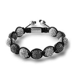 Nialaya Women Crystal String BLACK / SILVER, smycken