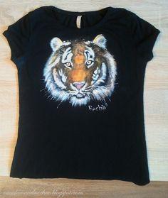 DIY: Hand painted t-shirt TIGER