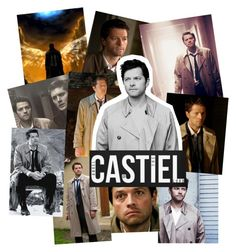 """Day 4- Favorite Male Character (besides Sam or Dean)"" by castielsangel45 on Polyvore featuring art, 30daychallenge, supernatural, castiel and angelOfTheLord"