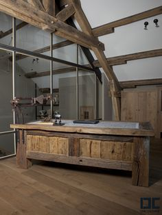 Rustic home office - Bring your own design ideas to us and let us create custom one-of-a-kind barn wood furniture for your home work space. www.braunfarmtables.com