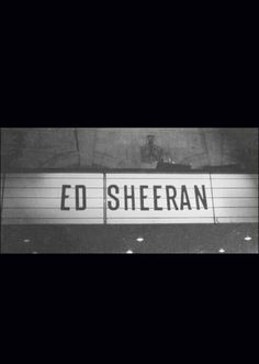 Header Ed Sheeran Black and white