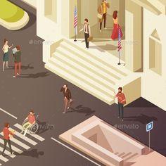 Government People Isometric Illustration