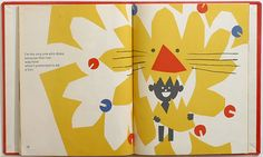 "Awesome lion & little boy from ""Listen! Listen!"" by Ann & Paul Rand 1970"