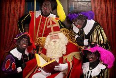 Sinterklaas met zijn Pieterbazen