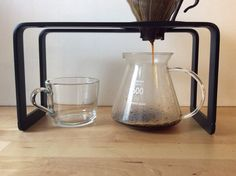Steel  Coffee pour over stand for drip coffee and Aeropress (Matte black)