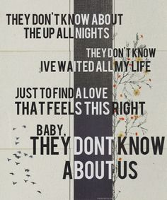 They Don't Know About Us - One Direction