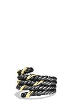 David Yurman 'Black and Gold' Ring with Black Diamonds available at #Nordstrom