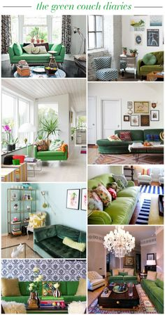 the green couch diaries // green couch inspiration