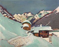 Jan Wiegers, Winterlandschaft mit Davoser-See, ca. 1920