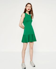 Image 1 of DRESS WITH FRILL from Zara