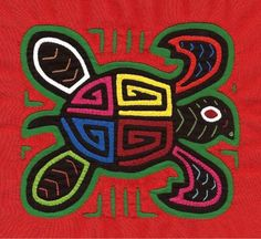 Superb Sea Turtle Mola Museum Quality Hand Sewn Kuna by molamama Textiles, Colombian Art, Art Projects, Sewing Projects, Reverse Applique, Indigenous Art, Mexican Folk Art, Hand Embroidery Designs, Art Plastique