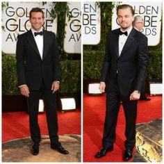 Entre los hombres mejor vestidos de la nueva edición de los Globos de Oro tenemos a Bradley Cooper y Leonardo Dicaprio.