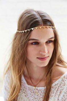 Triangle Goddess Chain Headwrap