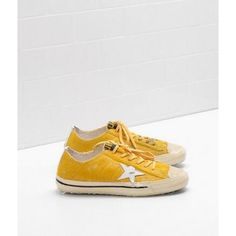 2017 Outlet Golden Goose V Star Femme Chaussures GGDB Sneakers Jaune Blanc  Soldes 46fa531e24c2