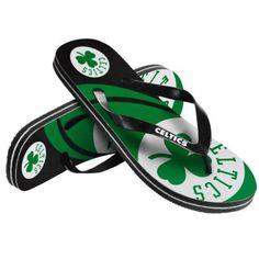 Boston Celtics Sandals- Logo Unisex Men or Women's Flip Flop Sandals