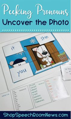 Each student should select a picture scene. Place question cards in a pile. Each student should coverthe 9 squares on their picture scene with pronouns cards. You can choose to use a single set of pronouns (subjective, objective, reflexive, possessive) or a mixed set. Color coded pronouns will help students make decisions about which pronoun to use to fill in the blank.