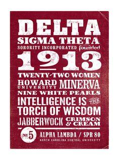Delta Sigma Theta 1913 poster by Pandora