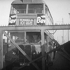 "101 early STL type bus held up at King George the V bascule bridge The classic ""Bridger"" that always made you late for work! Newham, London Bus, London Transport, King George, Coaches, Great Britain, Buses, Transportation, Bridge"
